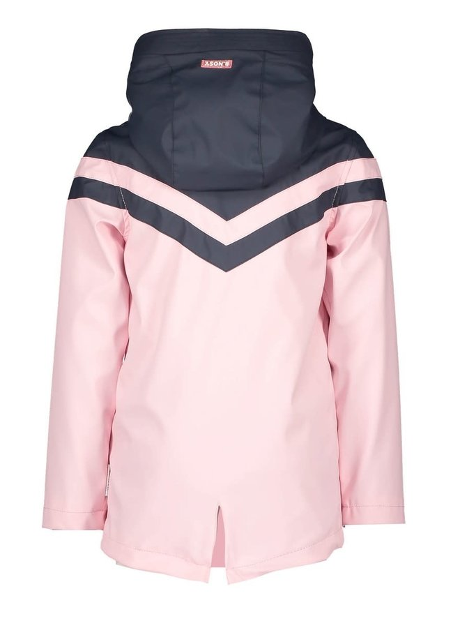 Girls - Parka with Contrast Part - Pink