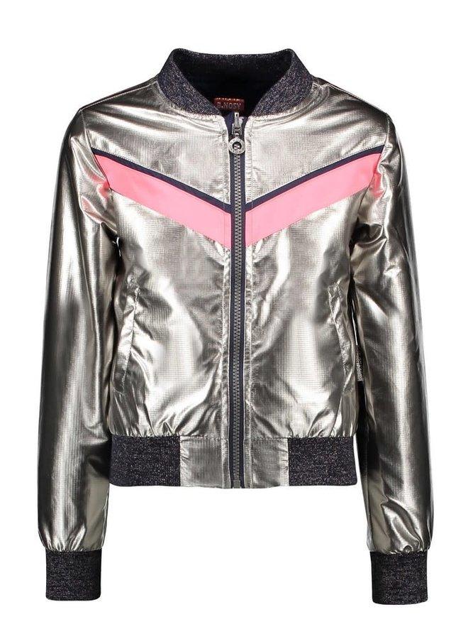 Zomerjas Girls - Reversible Jacket Pewter