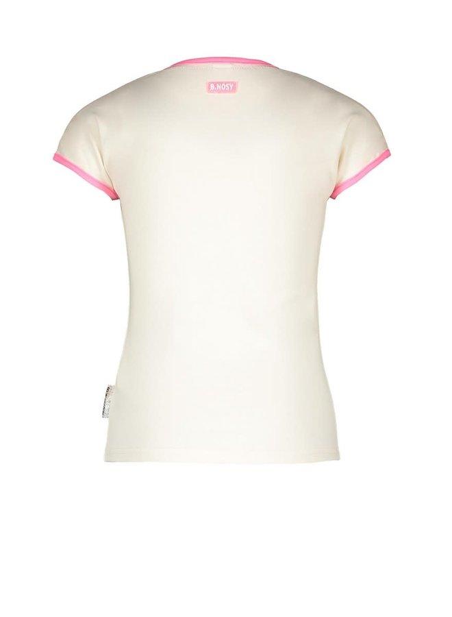 Girls - T-shirt with Fancy Artwork - Cotton
