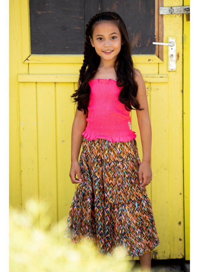 Girls - Smocked Top - Knock Out Pink