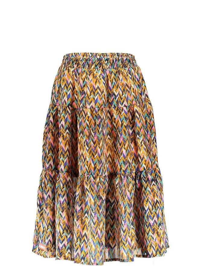 Girls - Curious AOP Midi Skirt