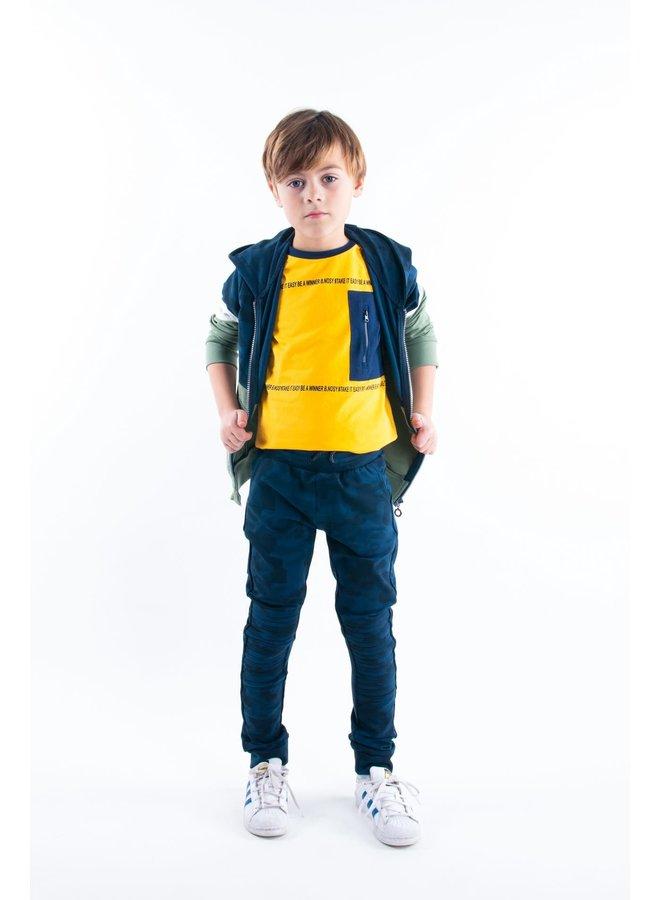 Boys - Hooded Cardigan with Zipper - Hunter Green