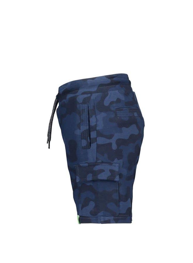 Boys - AOP Camo Sweat Shorts - Space Blue Camo