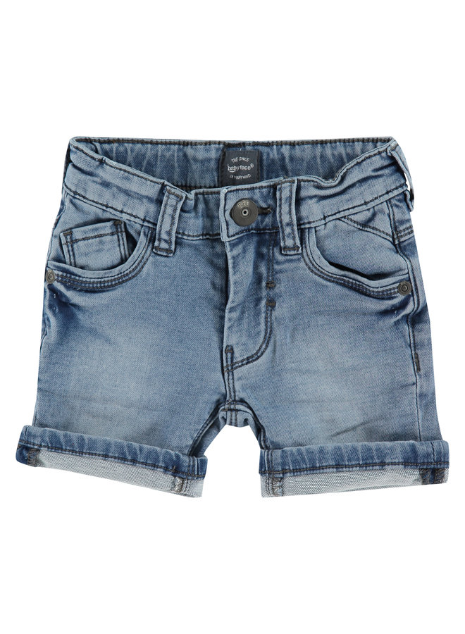 Boys Jogg Jeansshort - Medium Blue Denim