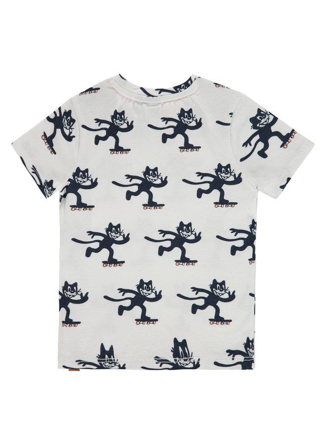 Boys T-shirt Short Sleeve AOP- White