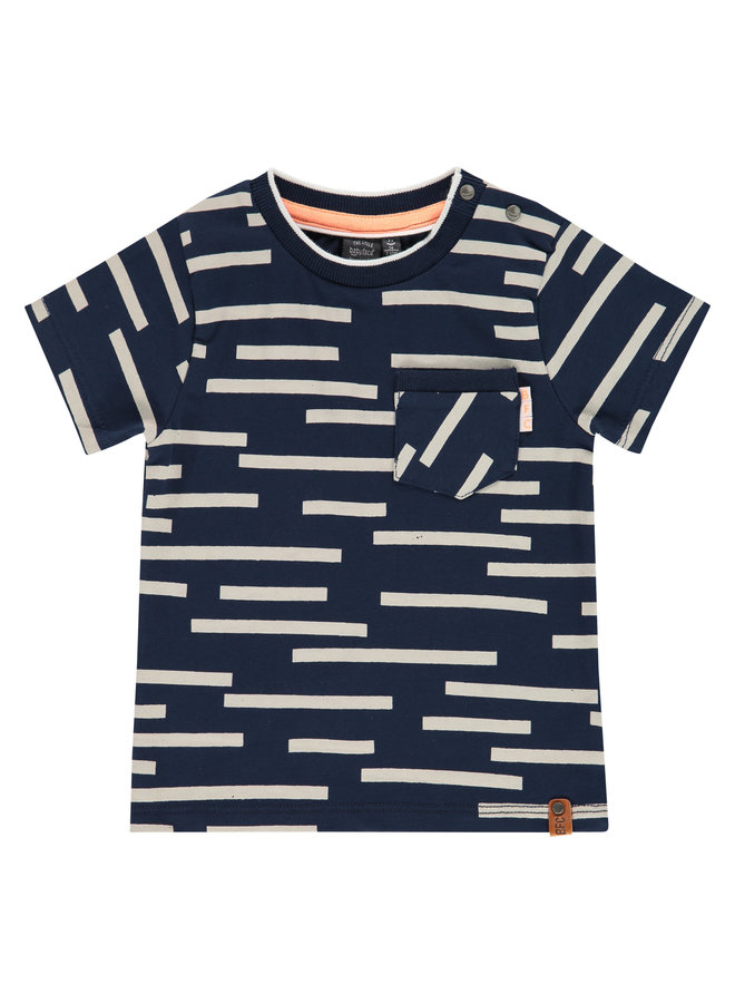 Boys T-shirt Short Sleeve  AOP - Navy