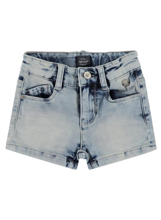 Girls Jogg Jeans Short - Mid Blue Denim