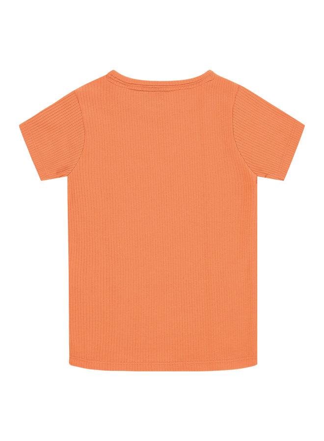 Girls T-shirt Short Sleeve - Coral