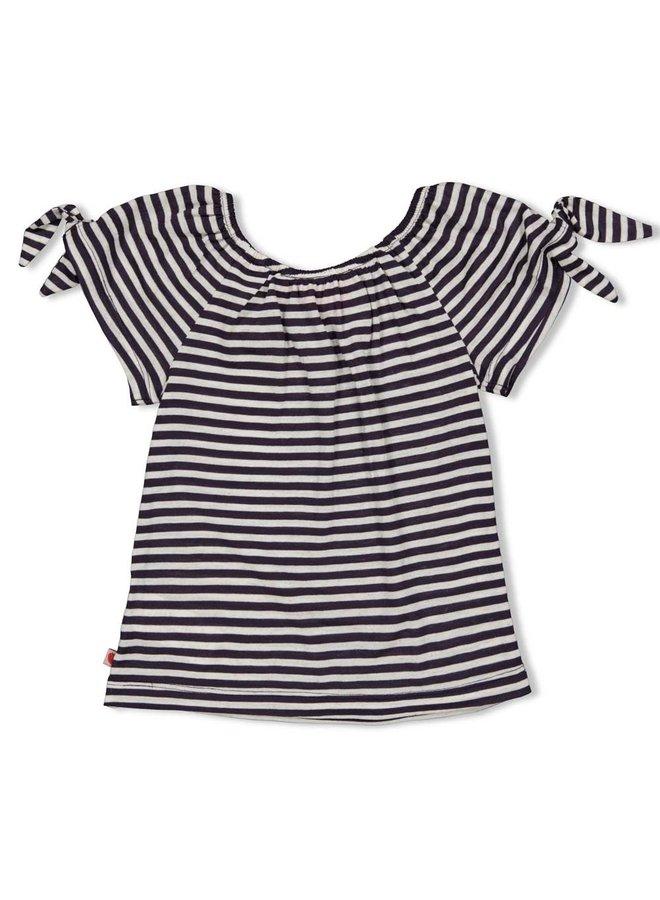 T-shirt streep - Tutti Frutti - Antraciet