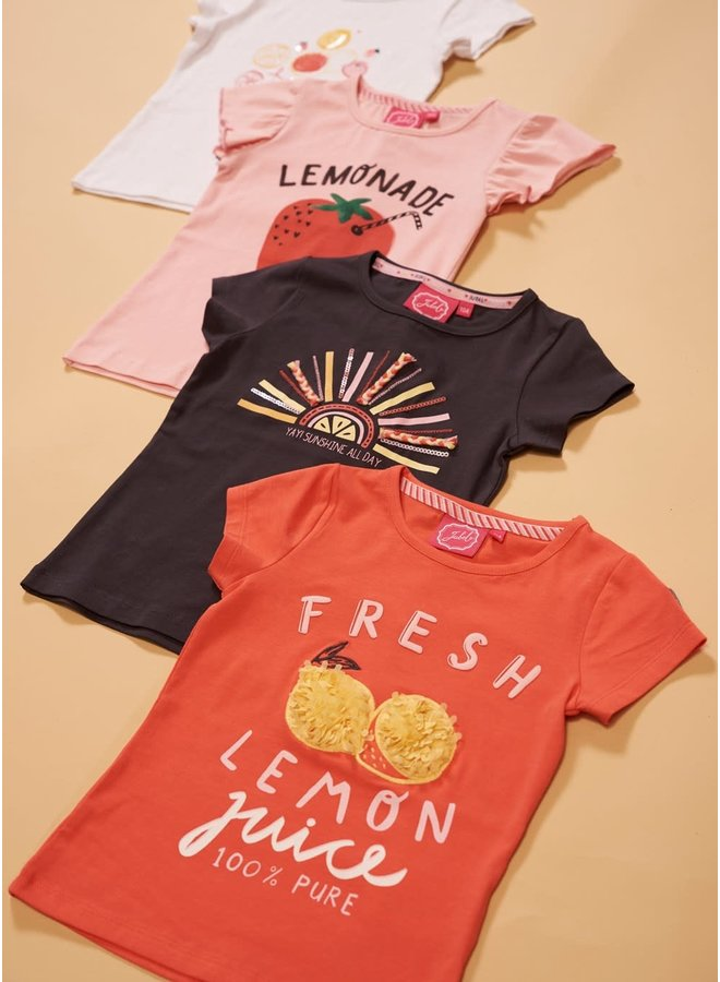 T-shirt Fresh - Tutti Frutti - Koraal