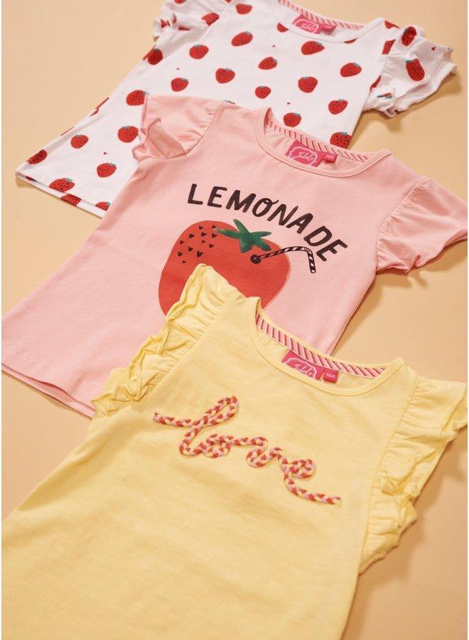 T-shirt Lemonade - Tutti Frutti - Roze