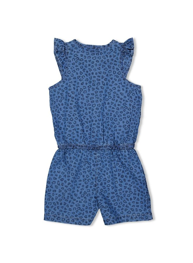 Jumpsuit kort AOP - Summer Denims - Blue Denim
