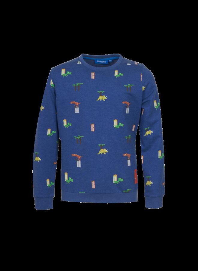 Dinos - Sweater - Dark Blue Melange