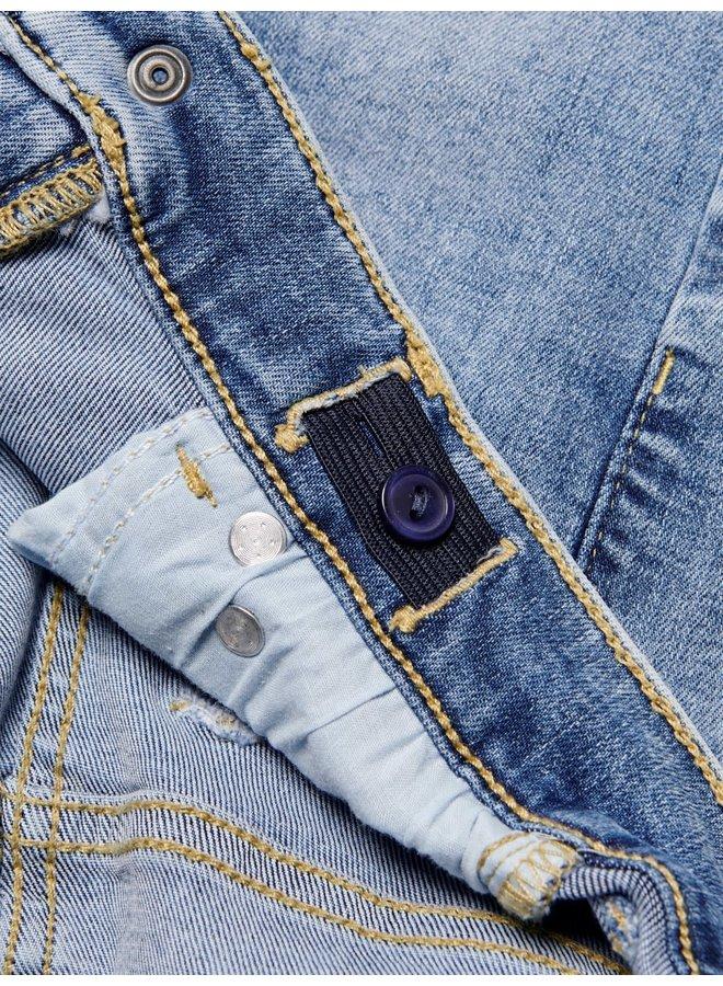 Blush - Skinny Raw Jeans - Light Blue Denim