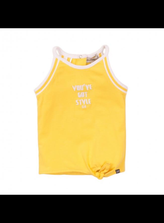 Girls T-shirt Sleeveless - Yellow SS21