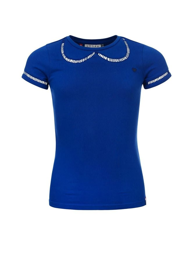 T-shirt S. - Kobalt