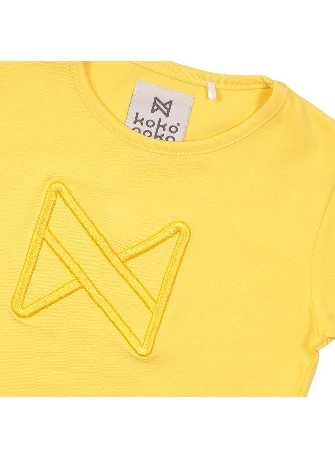 Girls T-shirt ss - Yellow SS21