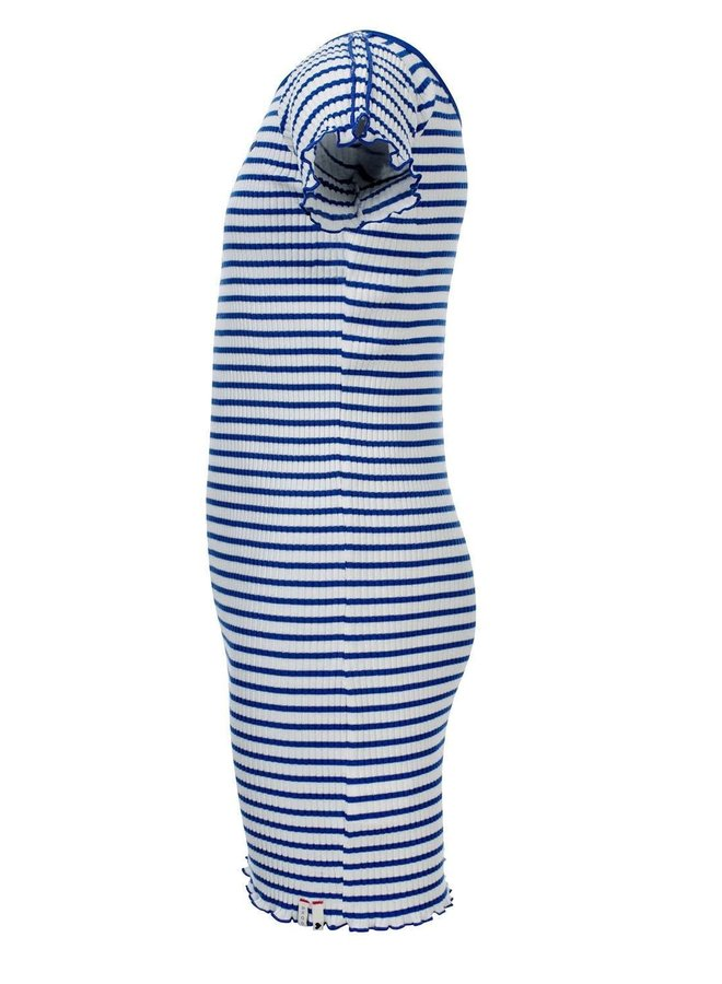 Dress Long - Kobalt Stripe
