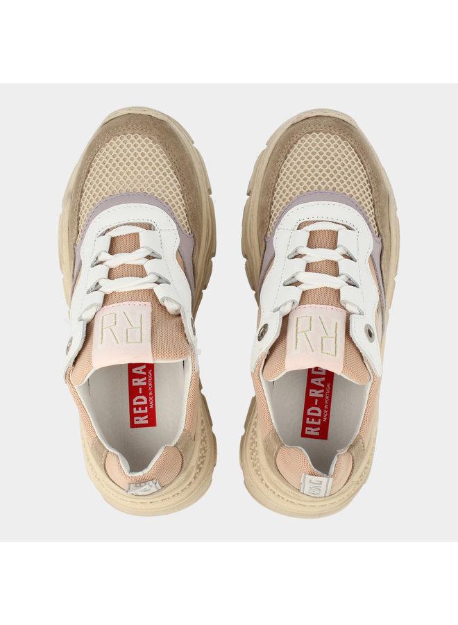 Girls Low Cut Sneaker Laces - Beige Combi