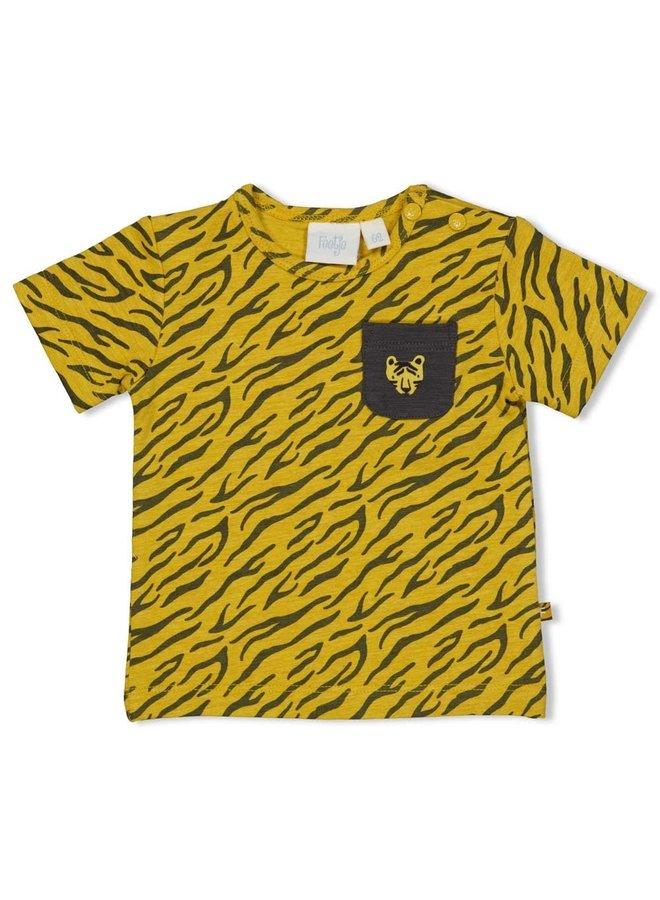 T-shirt AOP - Go Wild - Okergeel melange