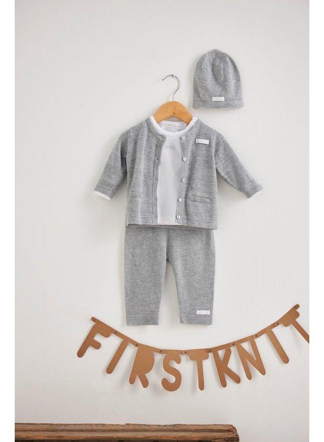 Vest - First Knit - Grijs Melange