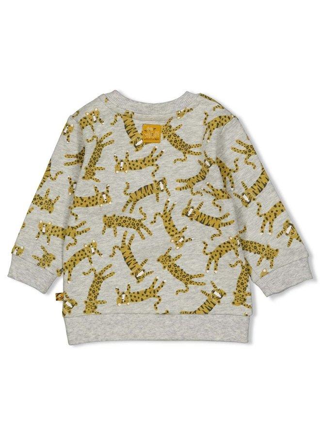 Sweater - Go Wild - Grijs Melange