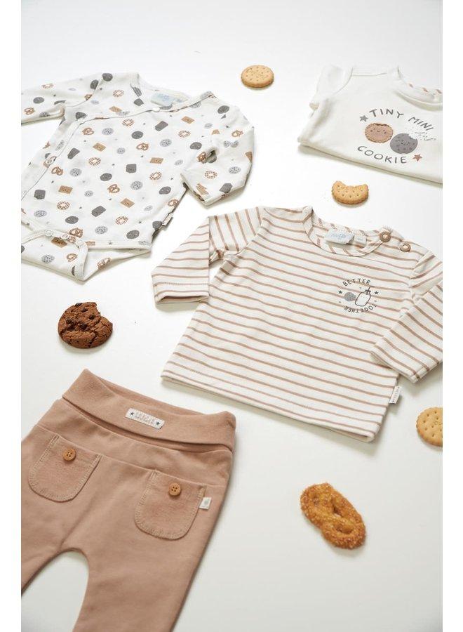 Wikkelromper - Mini Cookie - Offwhite