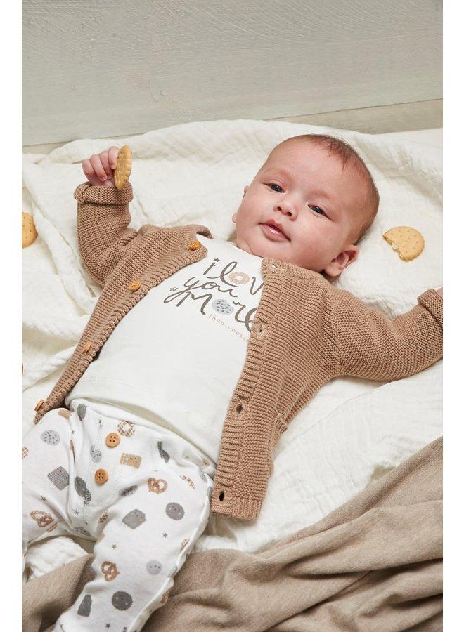 Vestje gebreid - Mini Cookie - Zand