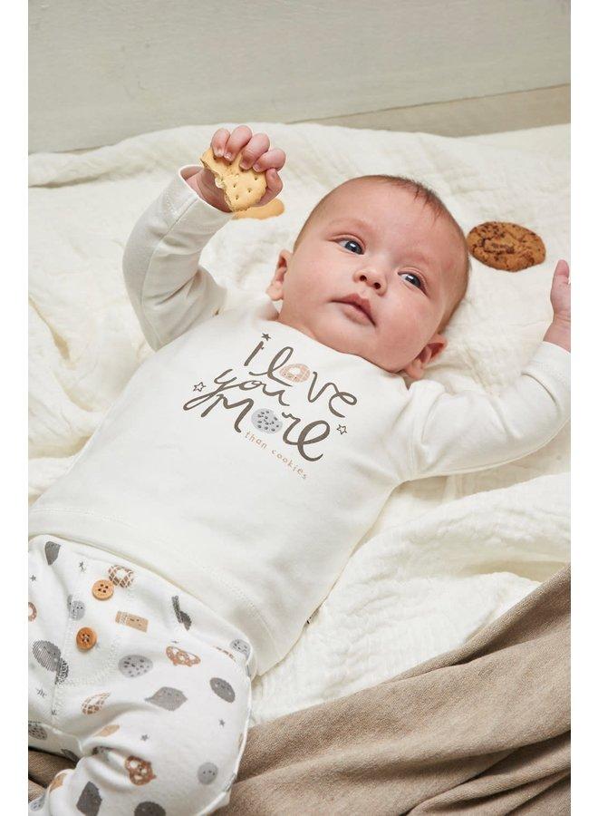Longsleeve Love You - Mini Cookie - Offwhite