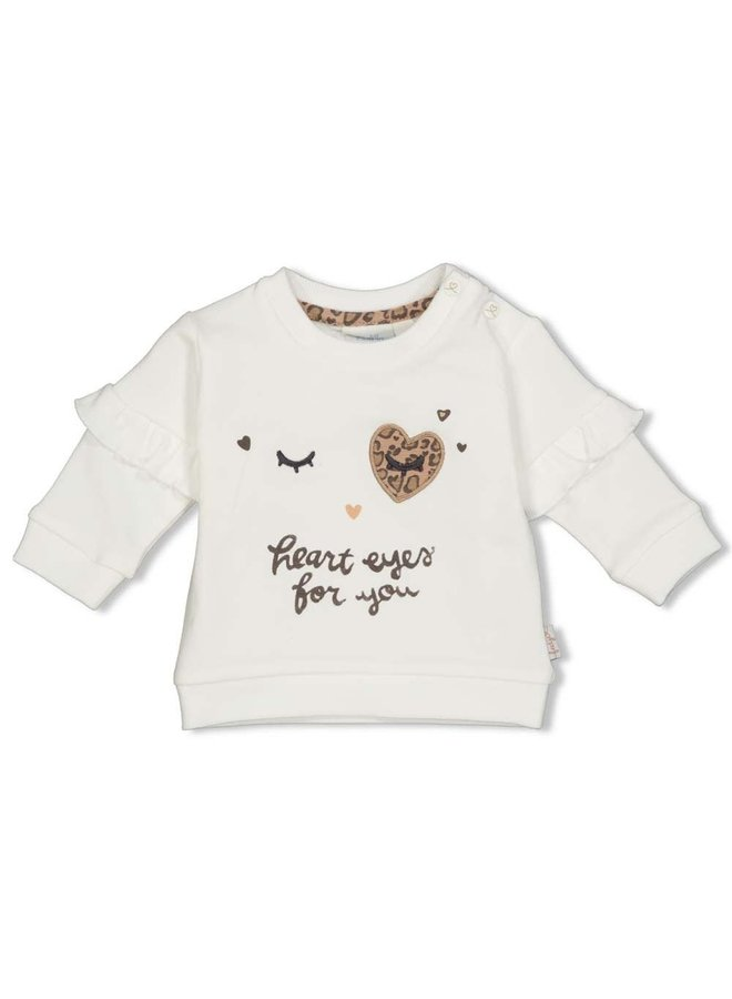 Sweater - Panther Cutie - Offwhite