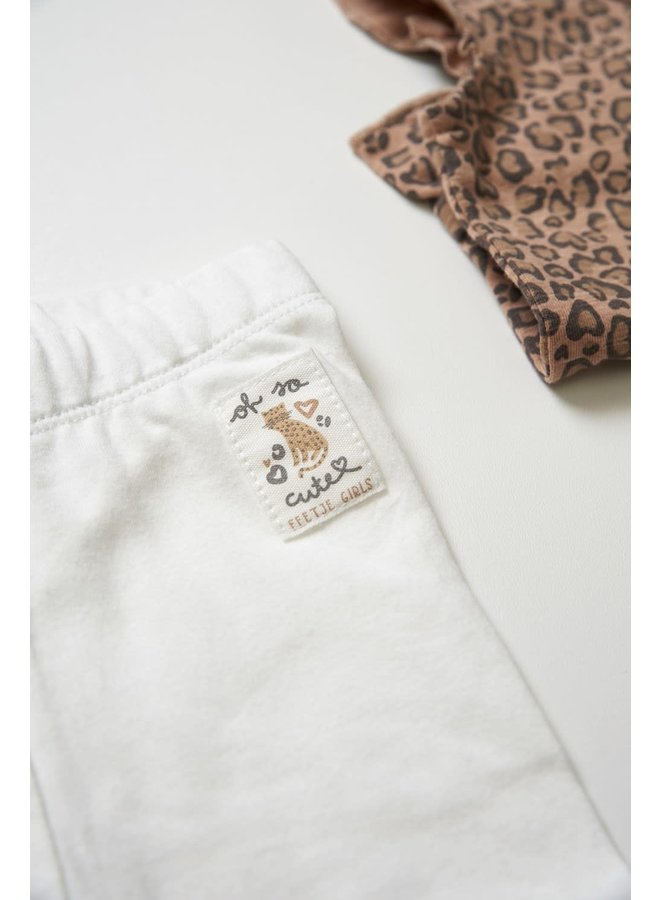 Legging - Panther Cutie - Offwhite