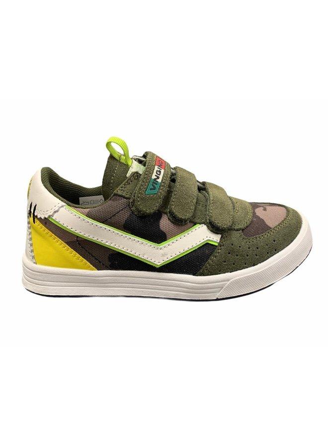 Guus Velcro - Leather/Synthetic - Camo Green