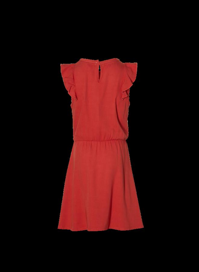 Madee - Dress - Stone Red