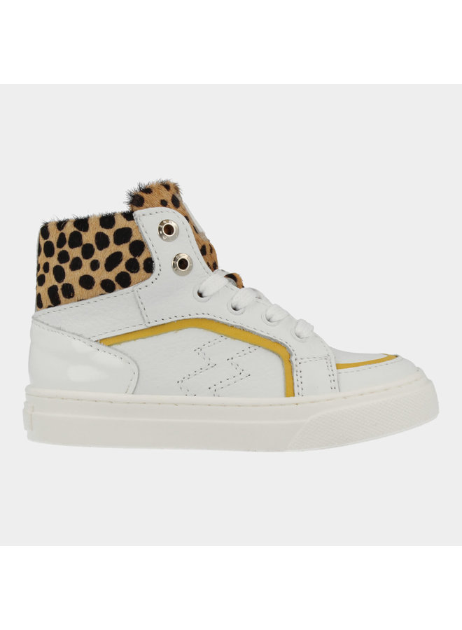 Girls - Mid Cut Sneaker Laces - Leopard Fantasy