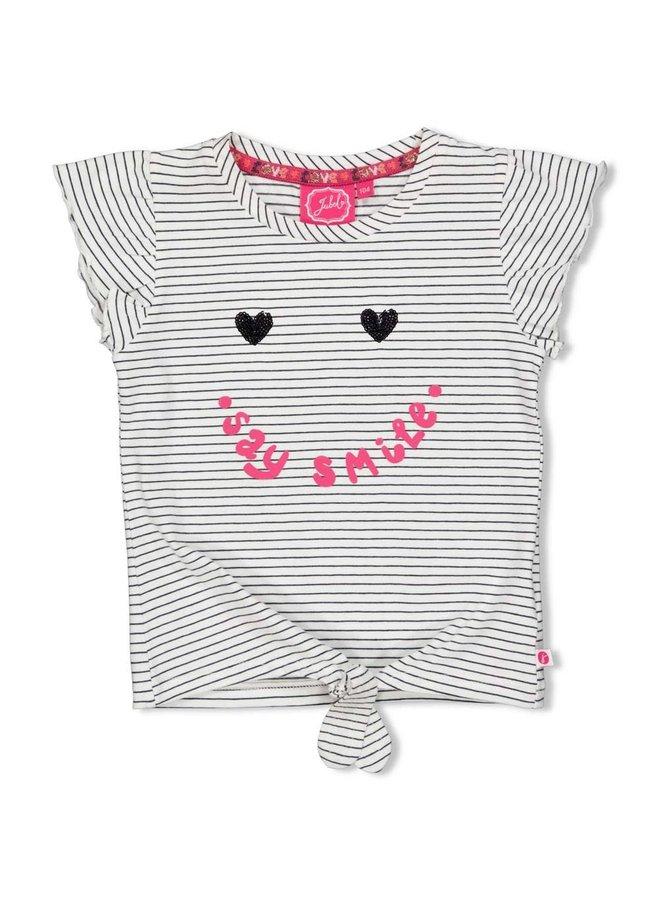 T-shirt Streep - Whoopsie Daisy - Antraciet