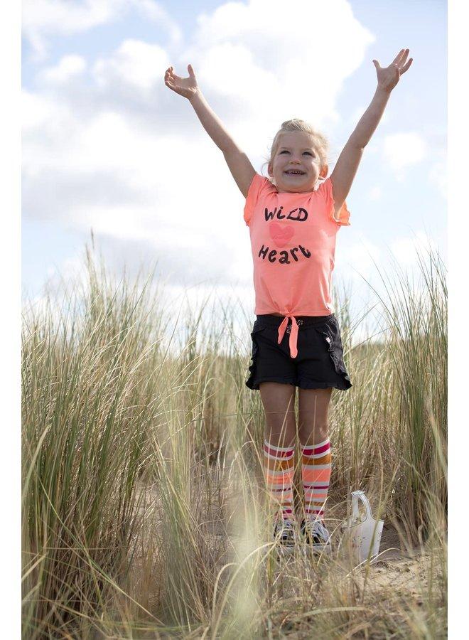 T-shirt Whoopsie Daisy - Neon Koraal