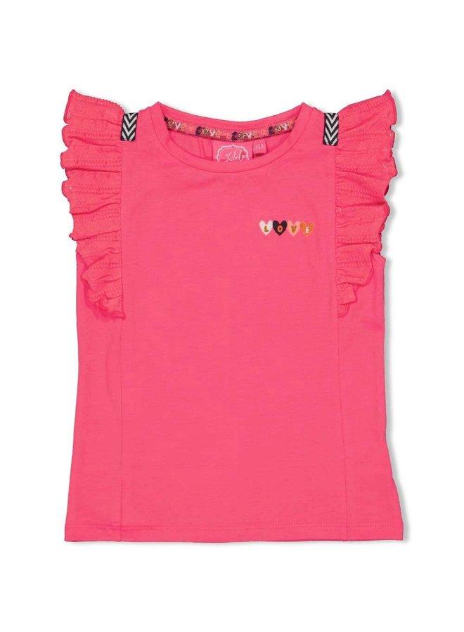 T-shirt - Whoopsie Daisy - Fuchsia