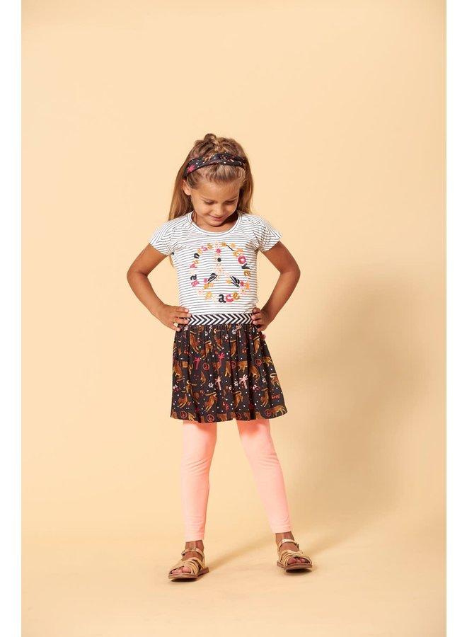 Legging - Whoopsie Daisy - Neon Koraal