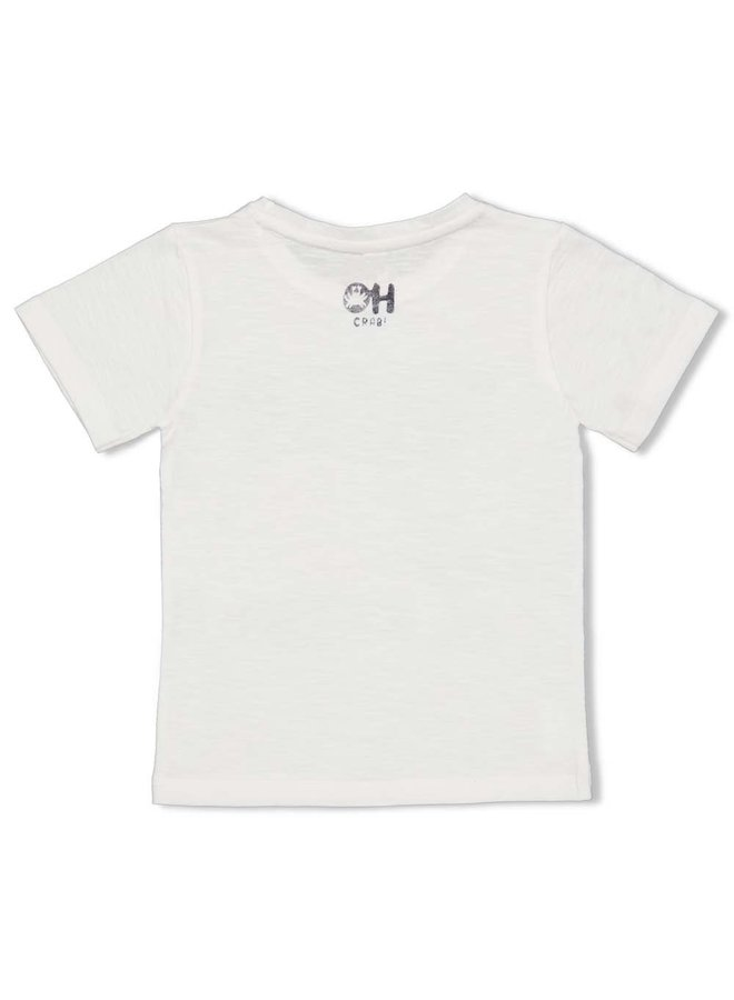 T-shirt Sturdy - Smile & Wave - Wit