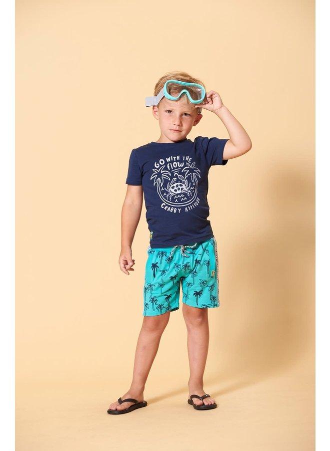 T-shirt Flow - Smile & Wave - Indigo