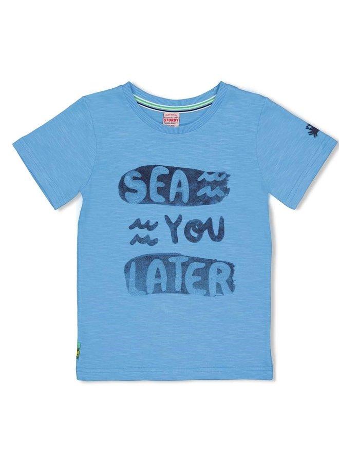 T-shirt Sea Ya - Smile & Wave - I.Blauw