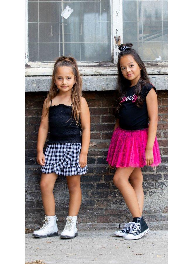 Girls - Smocked Top - Black