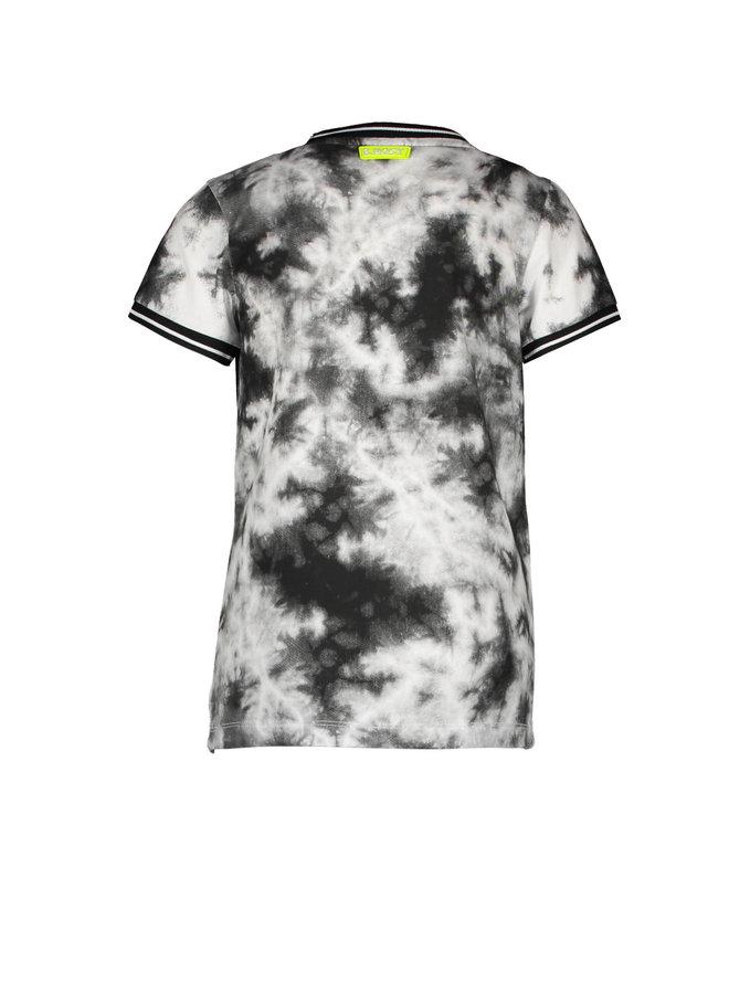 Boys - ss tie dye shirt - Tie dye black