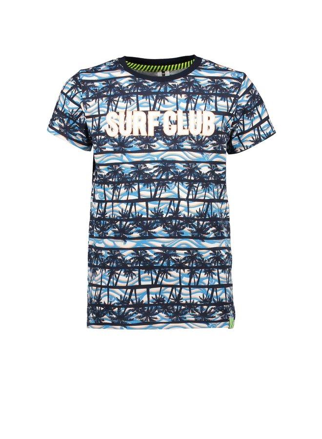 Boys - t-shirt with palm ao - On the beach ao