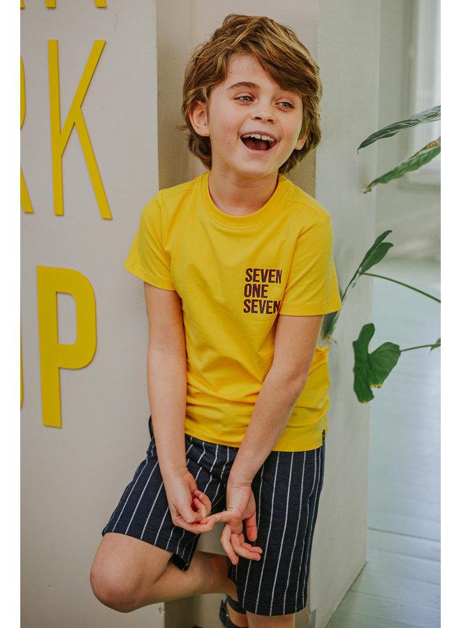 Teddy - T-shirt short sleeves contrast - Lemon Chrome
