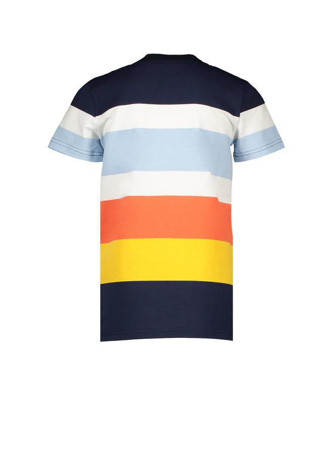 Teddy - T-shirt short sleeves AOP - Navy Blaazer