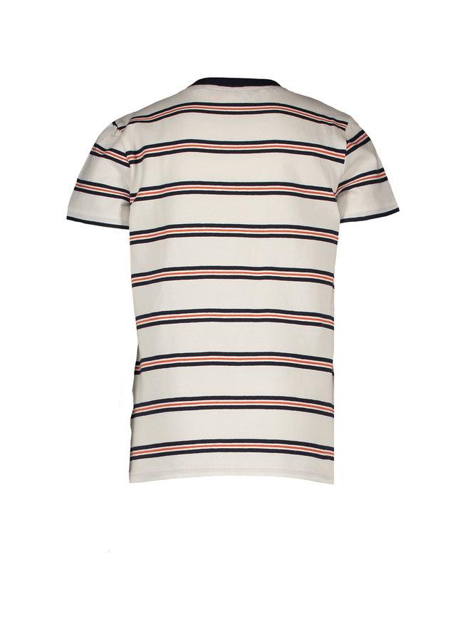 Teddy - T-shirt short sleeves AOP - Snow White / Blue