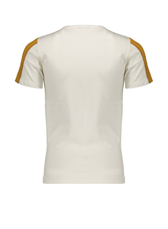 Kulian - T-shirt half sleeve with DON'T QUITE artwork at chest - Offwhite