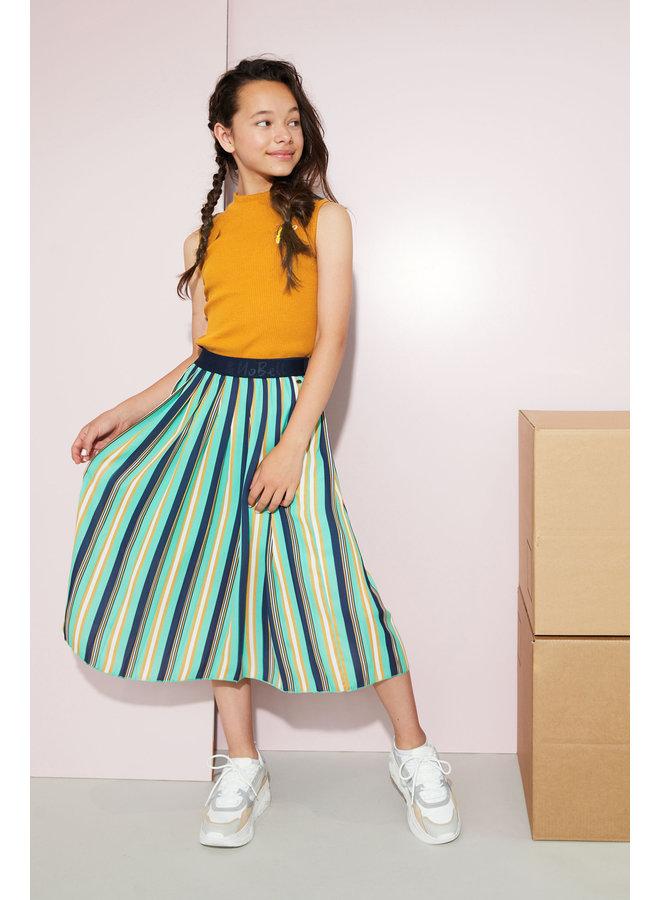 Noel - Maxi skirt with pleats in stripe AOP - Copenhagen
