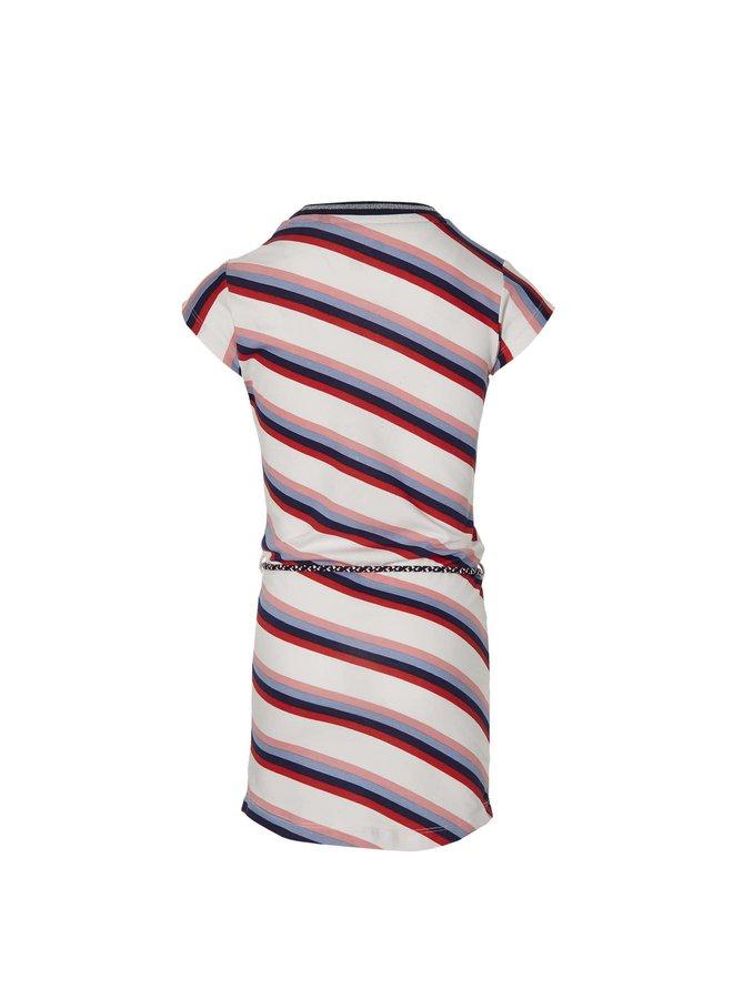 Fab - Dress - White Multi Stripe
